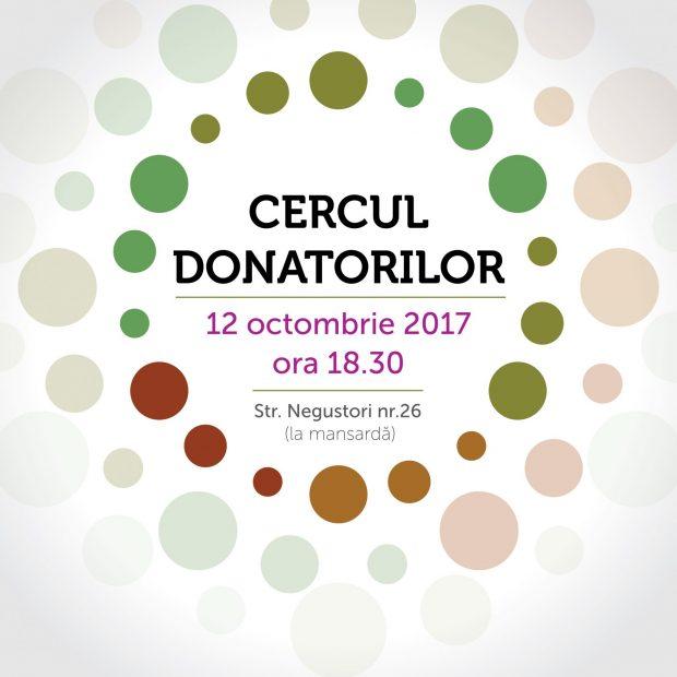 Hai la Cercul Donatorilor, să susținem proiecte care schimbă comunități!